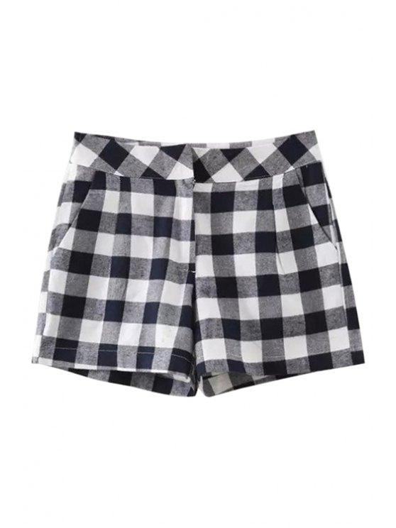 hot Checked Straight Leg Shorts - CHECKED S