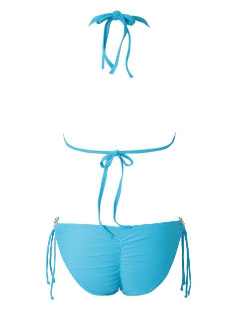 Bleu Halter Lace-Up Bikini - Pers L Mobile