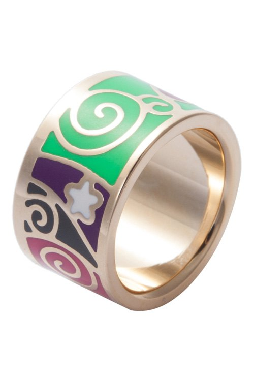 Wide Round Printed Ring