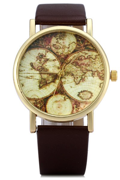 Map Print Watch For Women