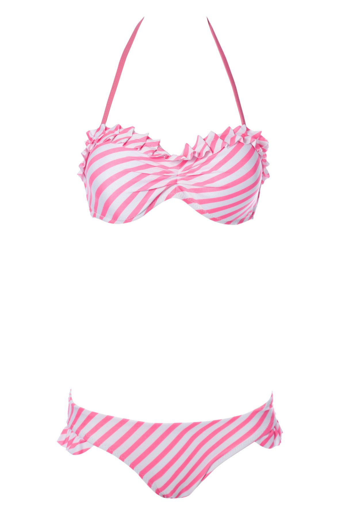 red striped bikini pink striped halter bikini set stripe swimwear zaful 7495