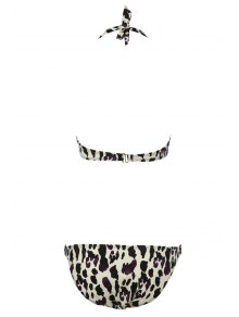 Self-Tie Leopard Print Bikini Set