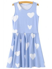 Heart Print A-Line Sundress