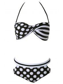 Halter Polka Dot Bikini Set
