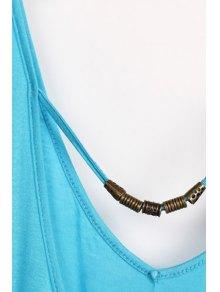 Solid Color V-Neck Elastic Waisted Dress