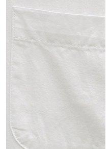 White Shirt Neck Long Sleeve Shirt