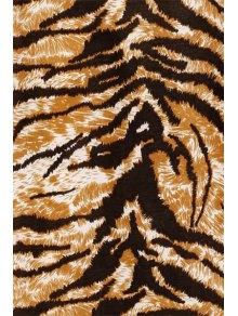 Leopard Pattern Lace Splicing Sleeveless Dress - EARTHY S