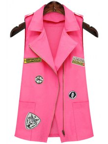Patch Design Lapel Waistcoat