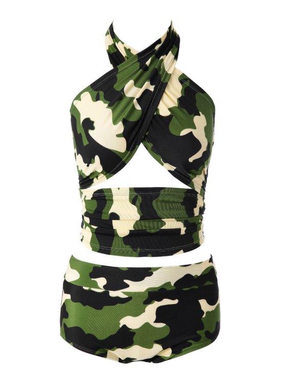 outfit Camouflage Print Bikini Set - 10# M