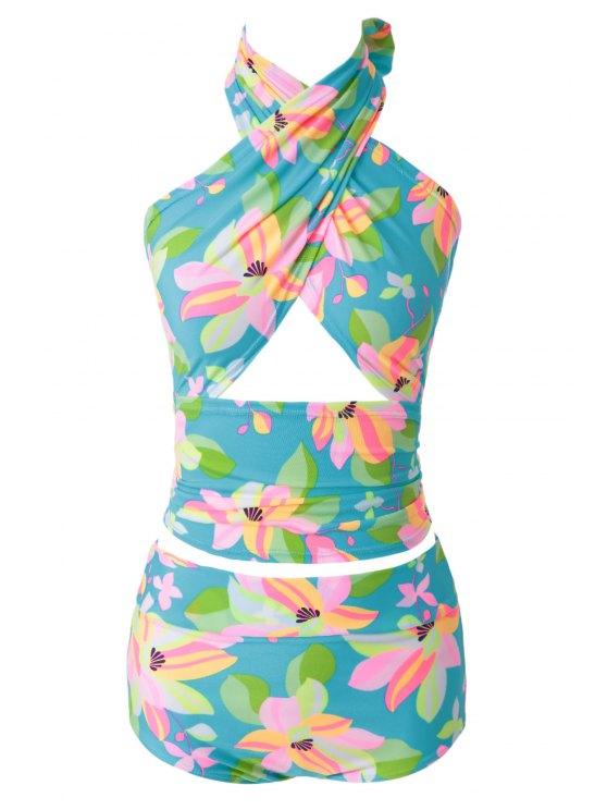 Flower Print Bikini Set - 13# XL Mobile