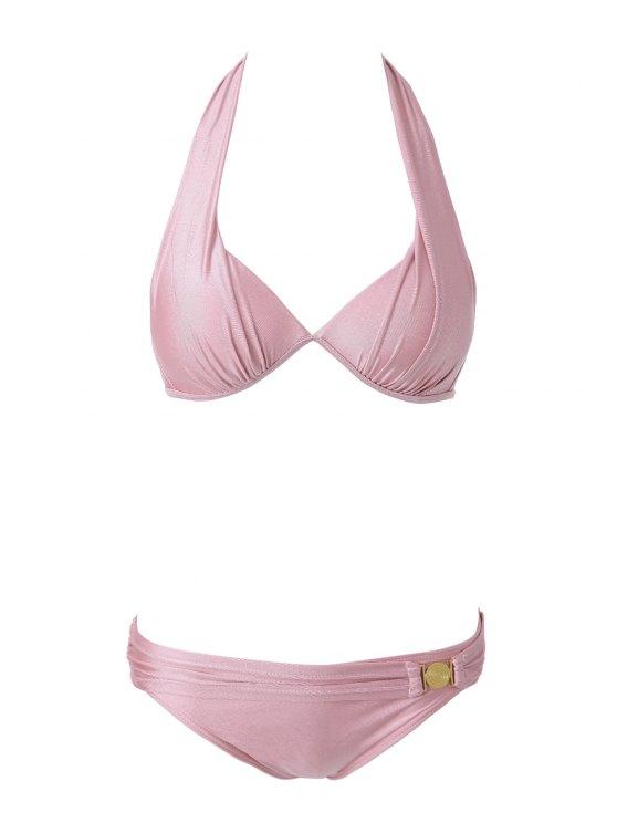 Bikini dos nu rose Set - ROSE PÂLE M