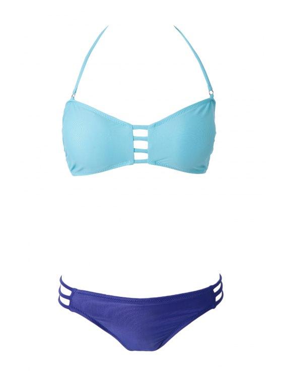 Calados vendaje Bikini Set - Verde M