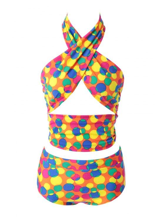 latest Colorful Polka Dot Bikini Set - 12# M