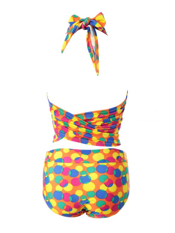 Colorful Polka Dot Bikini Set - 12# L Mobile