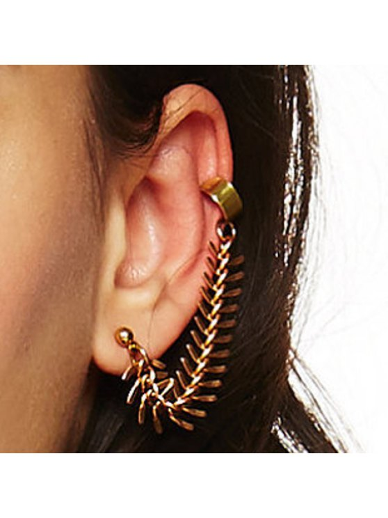 lady ONE PIECE Chic Fish Bone Shape Earring For Women - COPPER COLOR