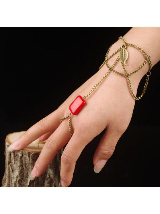 fashion Delicate Bohemian Style Leaf Shape Multi-Layered Women's Bracelet - COPPER COLOR