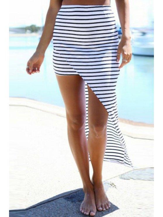 affordable Striped Irregular Hem Dress - STRIPE S