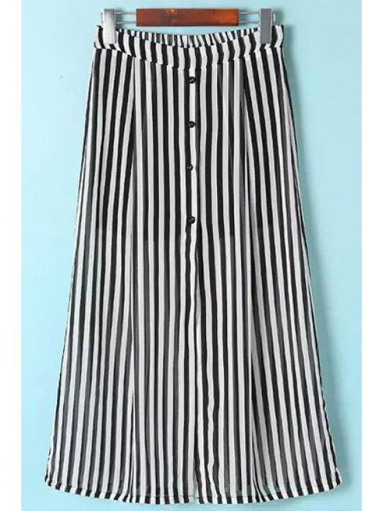 buy Striped Single-Breasted Skirt - STRIPE S