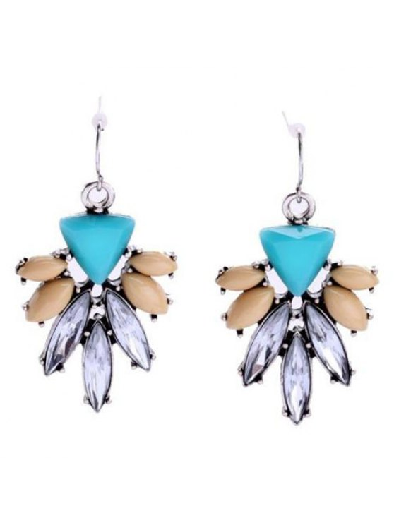 women's Pair of Cute Blossom Shape Rhinestone Decorated Earrings For Women - COLORMIX