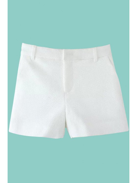 outfit White High Waisted Shorts - WHITE M