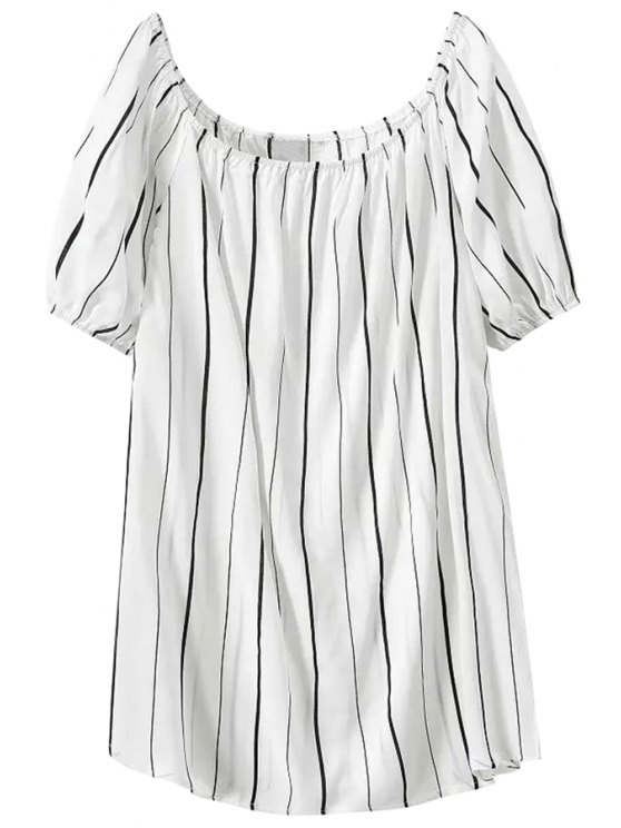 chic Stripes Short Sleeve Dress - STRIPE S