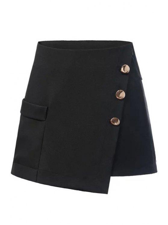 shops Buttons Embellished Pocket Shorts - BLACK S