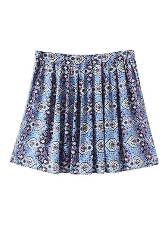 shops Retro Print A-Line Skirt - COLORMIX S