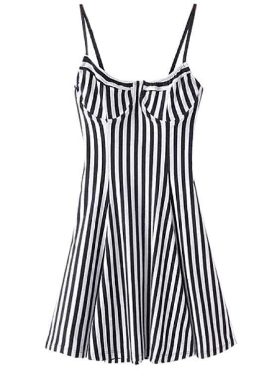 new Spaghetti Strap Stripe Dress - STRIPE S