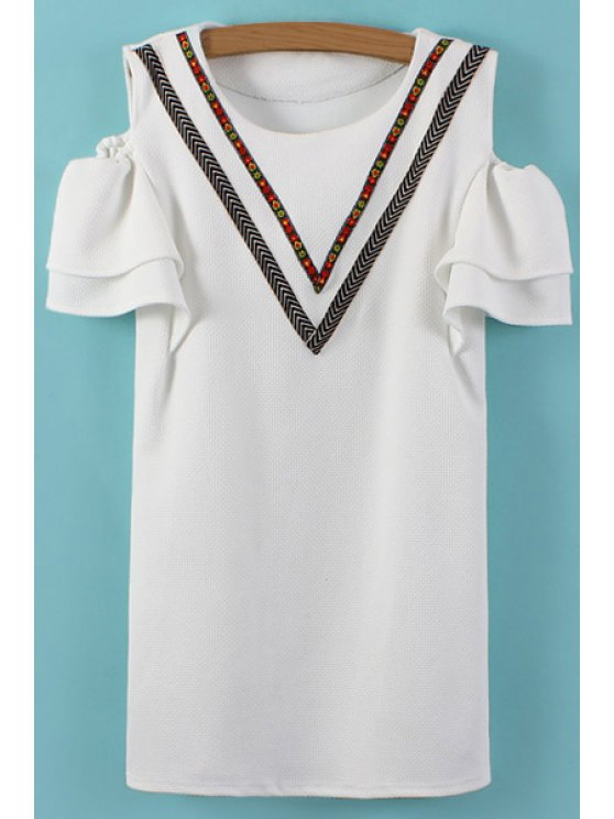 lady Embroidery Off-The-Shoulder Dress - WHITE ONE SIZE(FIT SIZE XS TO M)