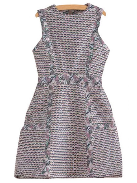 outfit Floral Polka Dot Sleeveless Dress - COLORMIX XS
