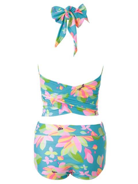 women Flower Print Bikini Set - 13# XL Mobile