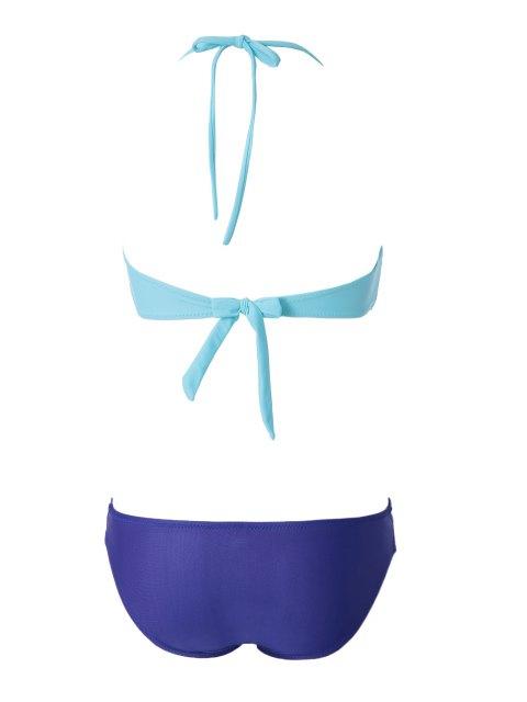 outfits Openwork Bandage Bikini Set - GREEN M Mobile