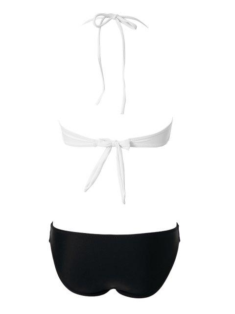 online Openwork Bandage Bikini Set - WHITE M Mobile