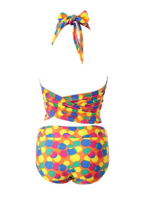fashion Colorful Polka Dot Bikini Set - 12# L Mobile