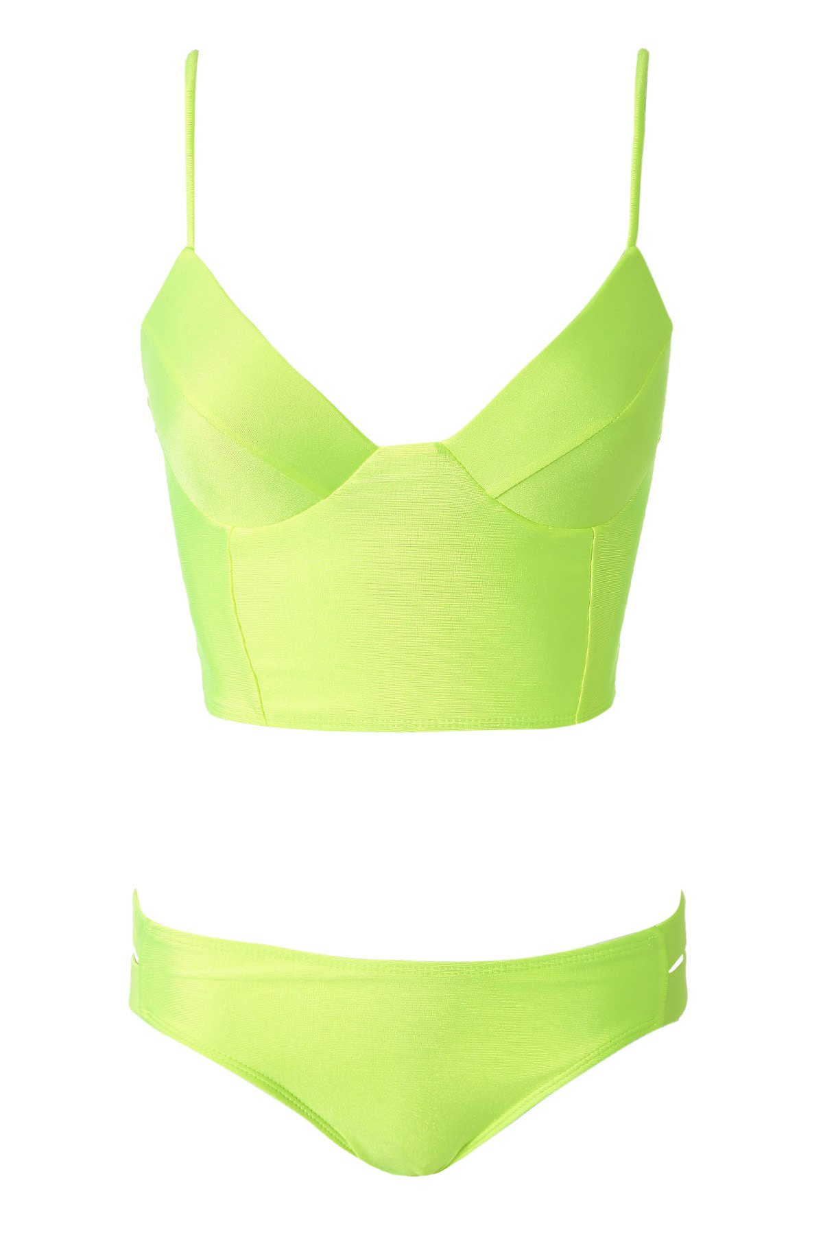 Womens bikini lime green color solid