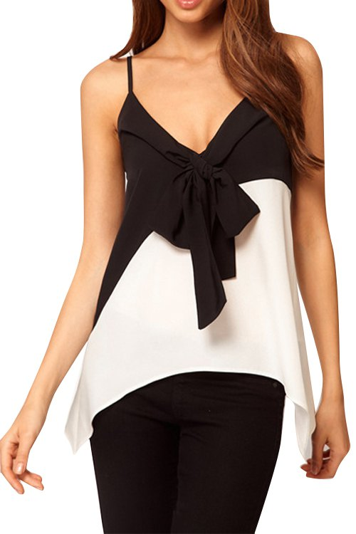 Bowknot Tank Top Block Bowknot Tank Top