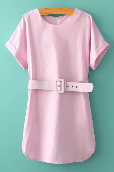 pink sleeve with belt dress light pink dresses 2016