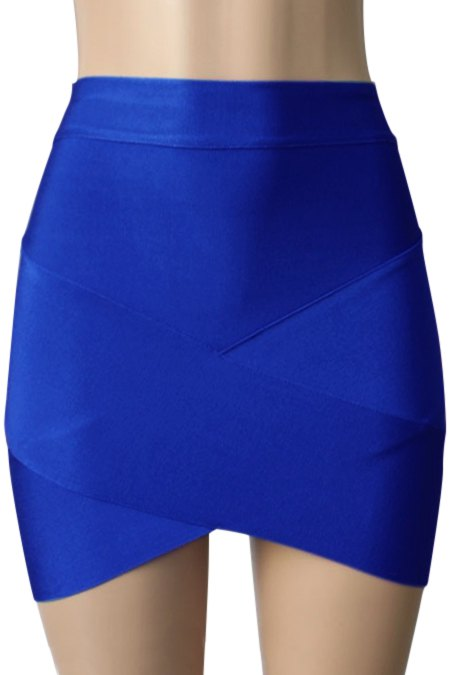 Bandage Solid Color Bodycon Skirt