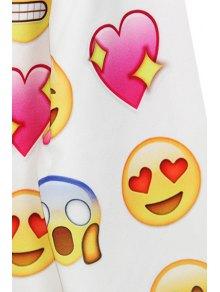 Emoji Print Long Sleeve Sweatshirt