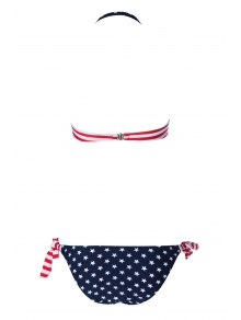 National Flag Print Bikini Set