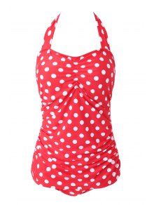 Polka Dot Red One-Piece Swimwear