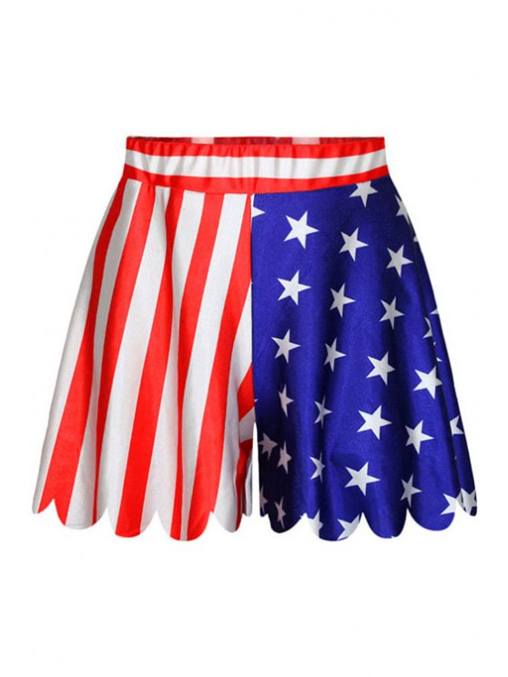 womens Star Stripe American Flag Print Shorts - AS THE PICTURE ONE SIZE(FIT SIZE XS TO M)