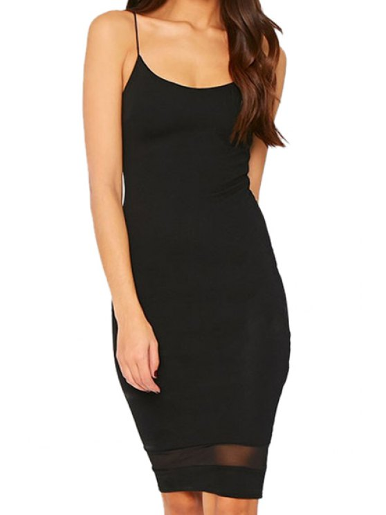 outfits Black Spaghetti Strap Sheath Dress - BLACK S