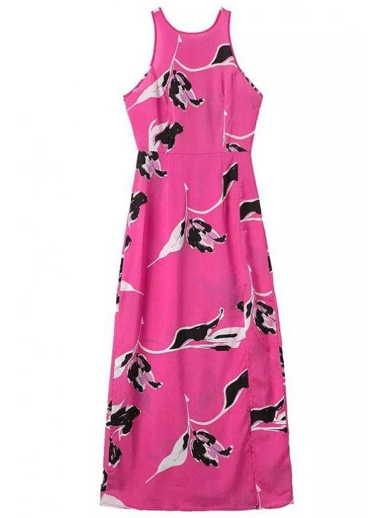 new Black Floral Print Sleeveless Maxi Dress - ROSE S