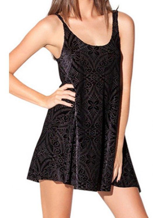 shops Black Scoop Neck Sundress - BLACK S
