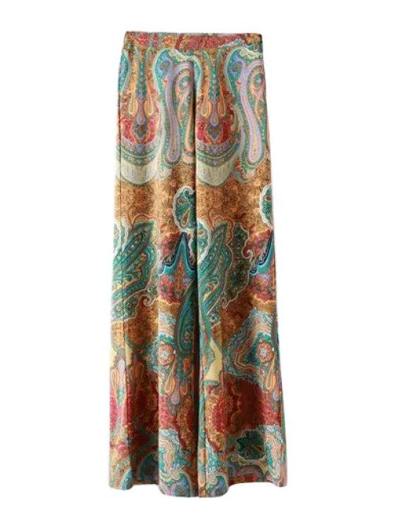 shop Paisley Print High Waisted Exumas Pants - COLORMIX M