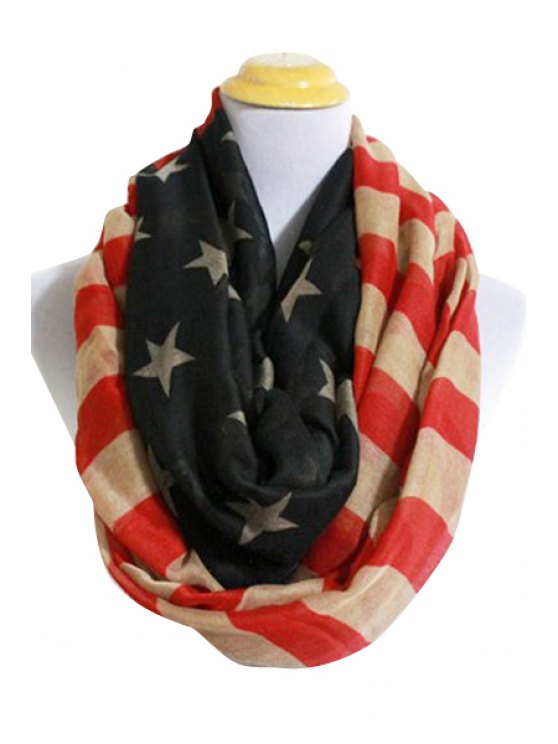 fancy American Flag Neck Warmer - RED