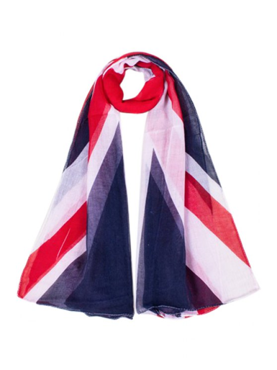 outfit Union Flag Print Scarf - WHITE