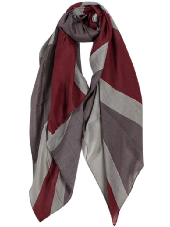 outfits Union Jack Print Color Block Scarf - GRAY