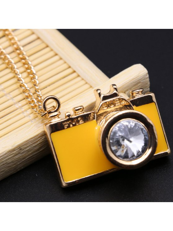 chic Classic Camera Shape Letter Printed Pendant Necklace For Women - RANDOM COLOR